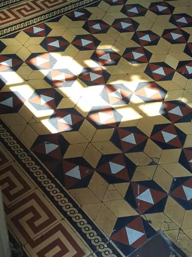 tiled floor at brava tapas