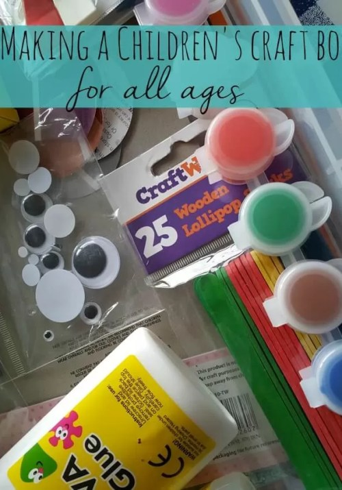 making a children's craft box - Bubbablue and me