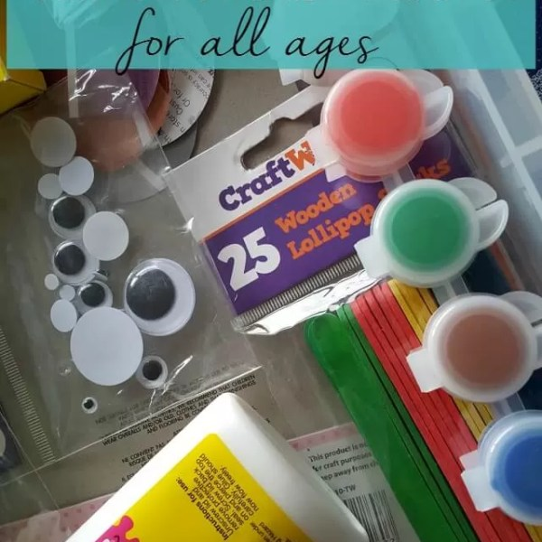 What to put in a kids craft box for different ages
