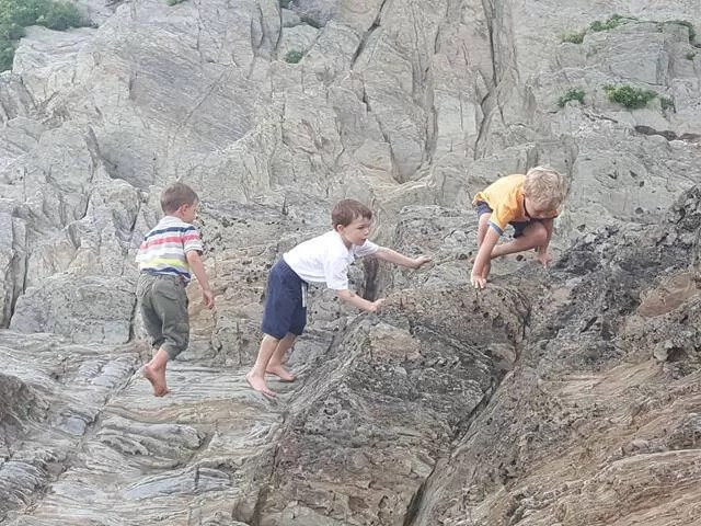 rock climbing at Woolacombe