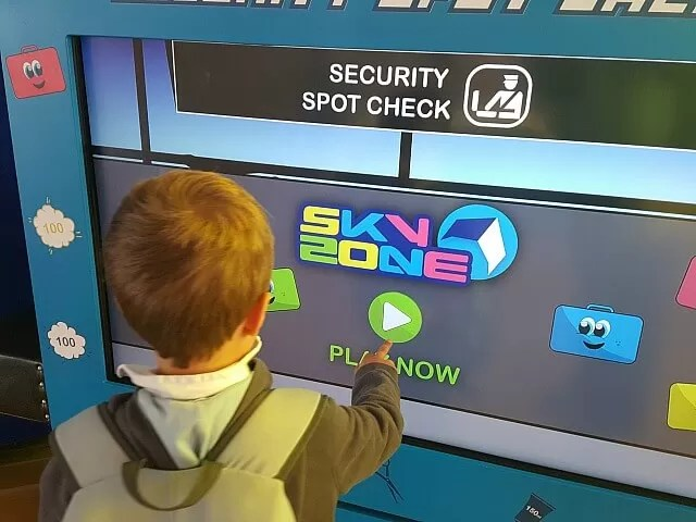 skyzone interactive play at birmingham airport