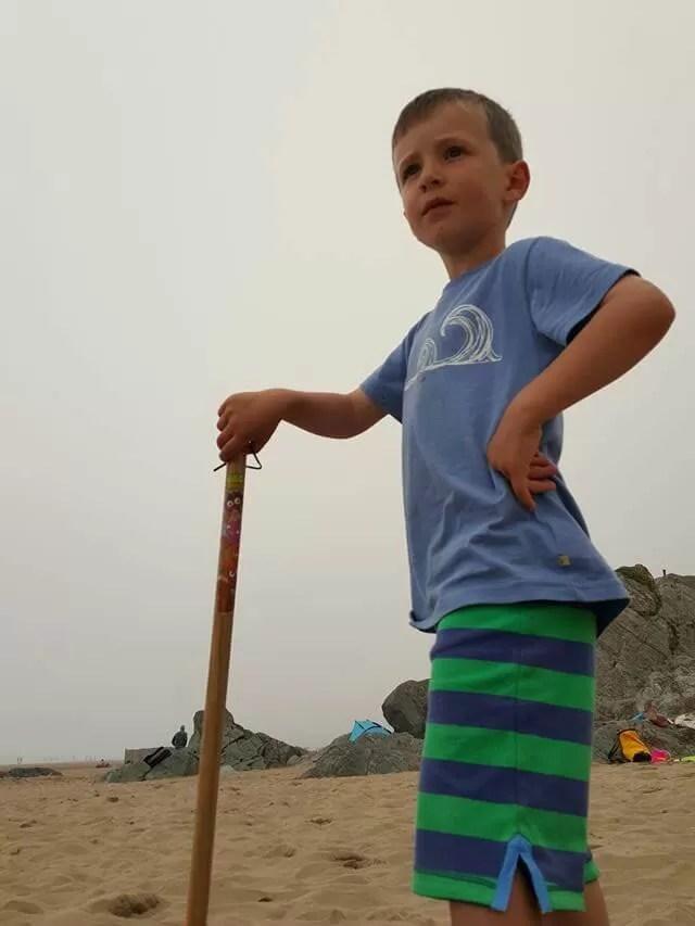 surveying the beach