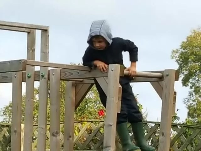 top of the climbing frame