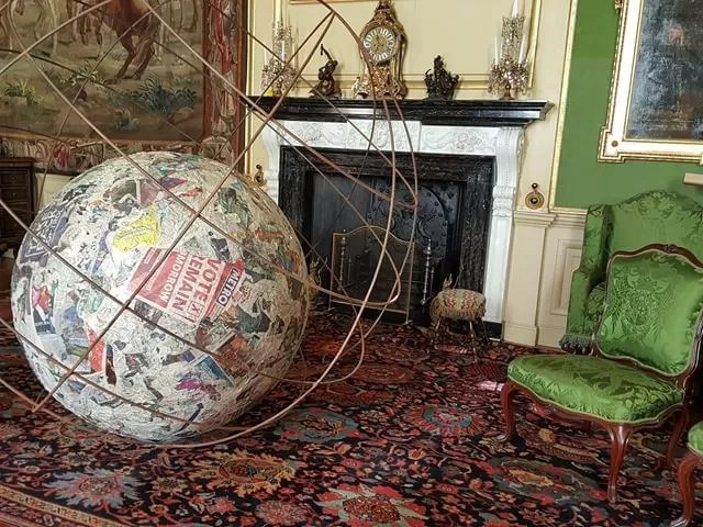 art installation ball and globe