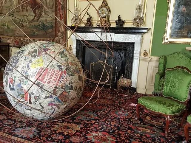 art installation ball and globe