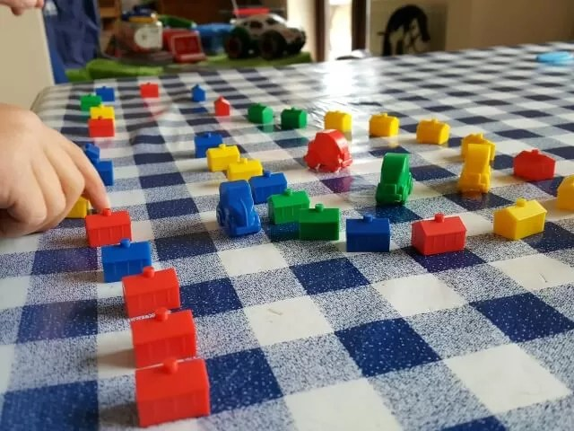 making up games with monopoly pieces