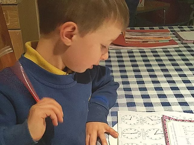 pleased with his maths homework