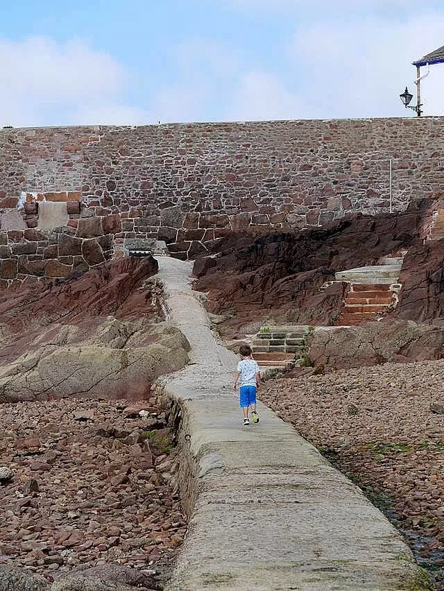 escaping-along-the-walkway-at-gorey-bay