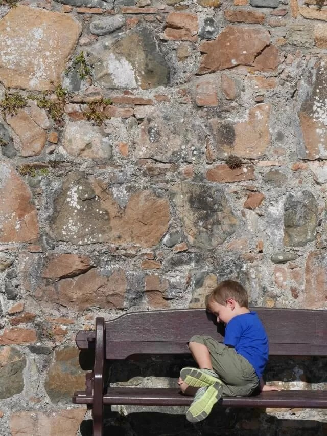 relaxing-on-a-bence-at-elizabeth-castle