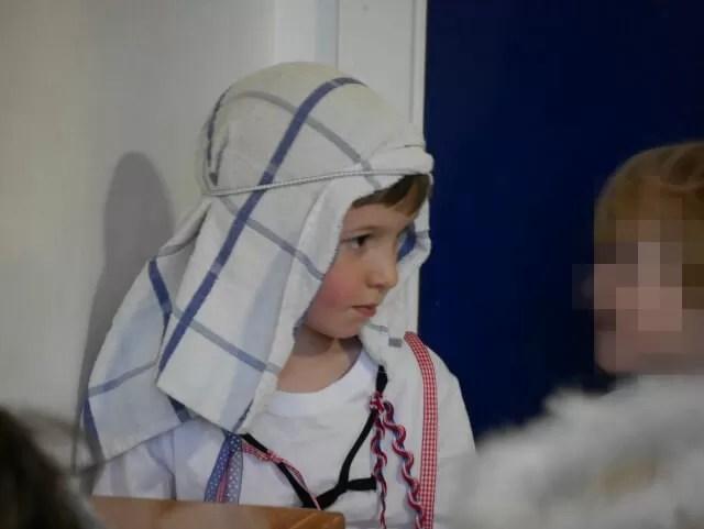 Christmas nativity morris dancing shepherd