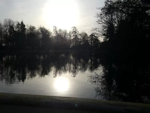 My Sunday Photo sun over Stowe Gardens