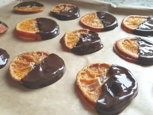 candied oranges for Christmas