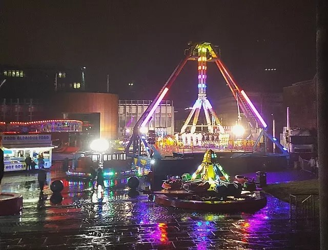 fairground at Coventry Cathedral