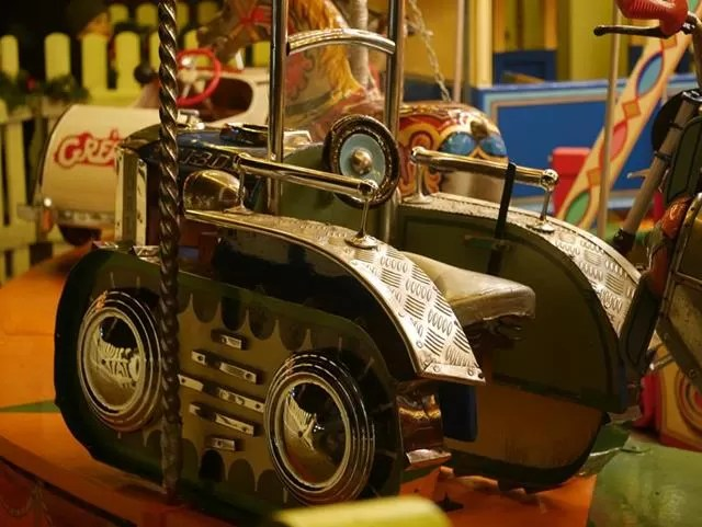 tractor on the carousel