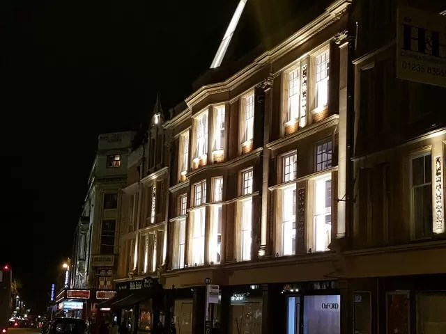 lit up windows in Oxford