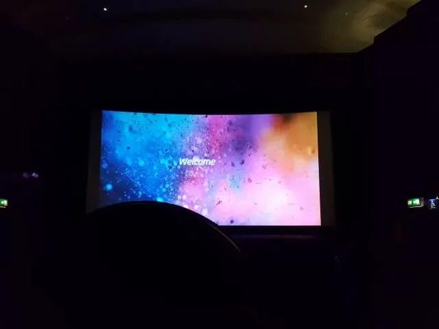 wecome cinema screen