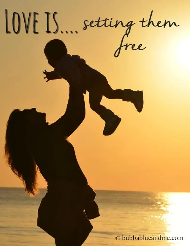 Love is...settig them free - Bubbablue and me