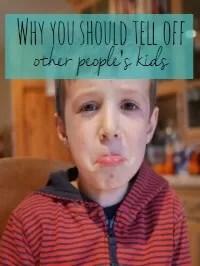 tell off other children