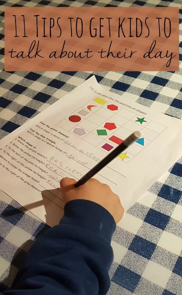 11 tips to get kids to talk about their day - Bubbablue and me