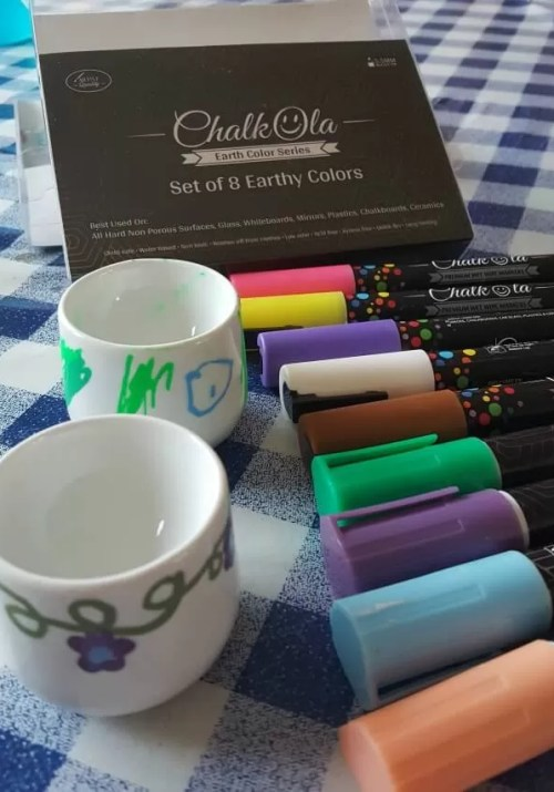 Review of Chalkola pens, liquid chalk markers for non-porous surfaces, great for upcycling or crafts - Bubbablue and me