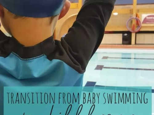 What's the big transition from baby swimming to child swimming lessons - Bubbablue and me
