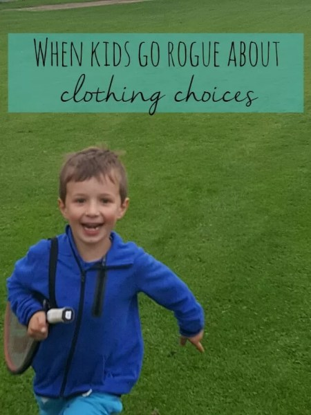 When kids go rogue about clothing choices and become fussy about jumpers - Bubbablue and me