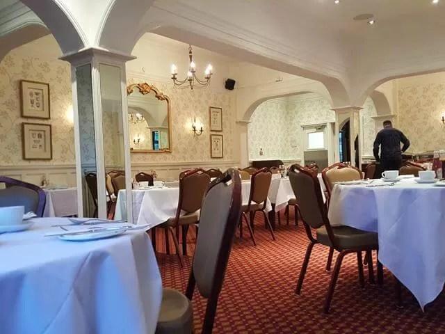 dining room at Crown Hotel Lyndhurst