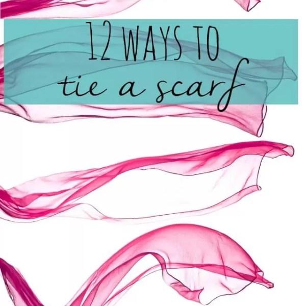 How to tie a scarf 13 ways