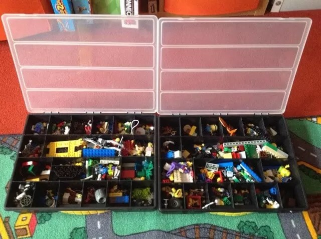 Lego in tool boxes segmented