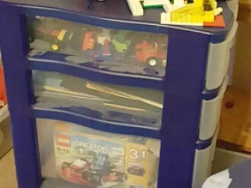 Lego storage drawers on wheels