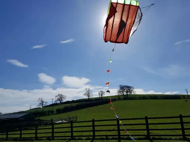 kite flying in the sun