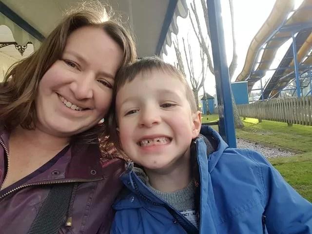 selfies on the rio grande train at paultons park