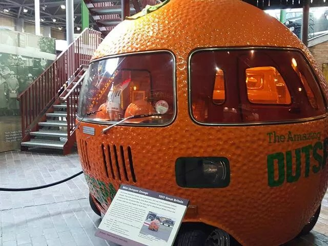 the orange car