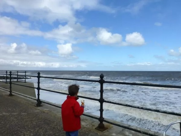 on the promenade at Cromer