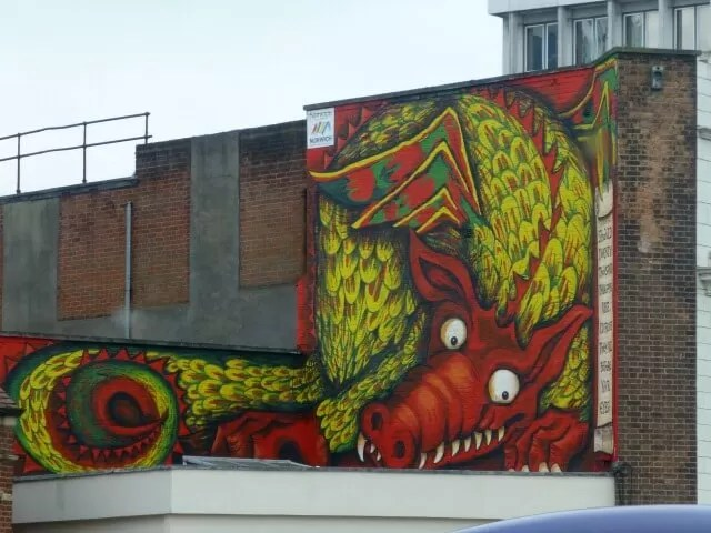 dragon graffiti in Norwich