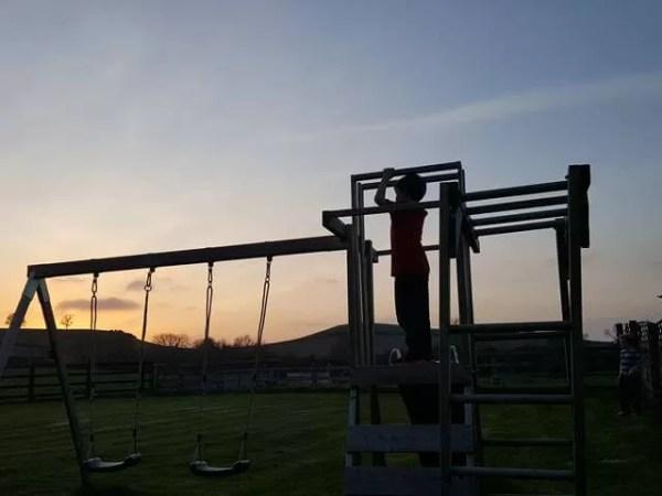 My Sunday Photo - climbing frame in sunset