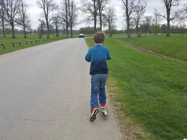 Scooting at Blenheim palace