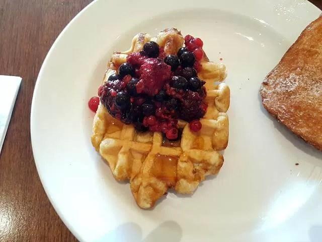 breakfast waffles at dunston hall