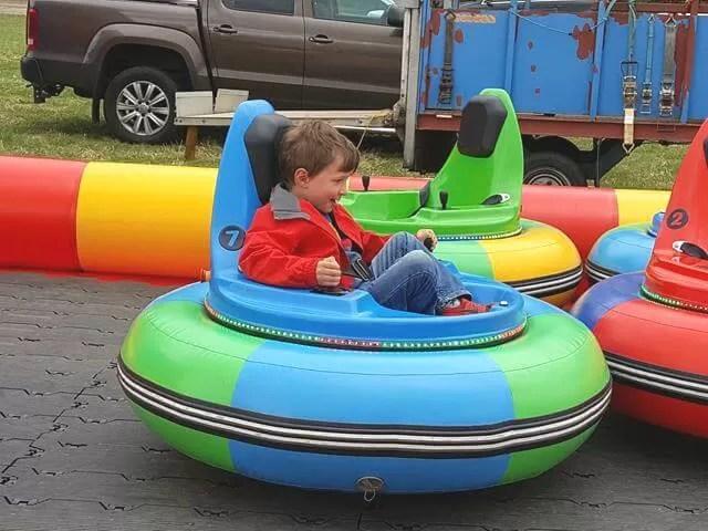 enjoying the hovercraft ride