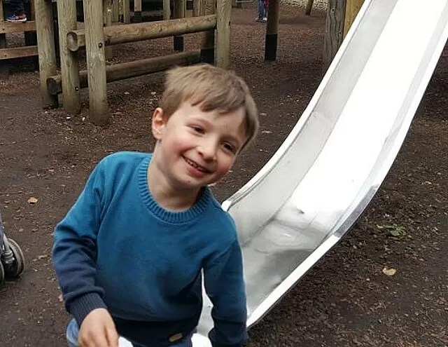 fun down the slide at Blenheim palace
