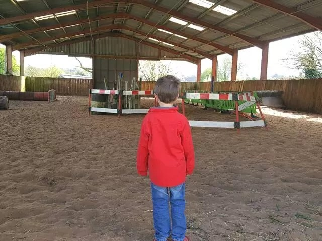 in the jump training shed