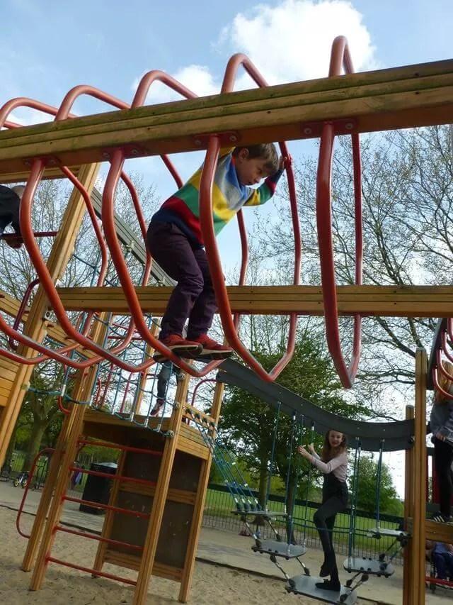 playing at Eaton Park