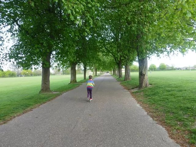 scooting in Eaton Park