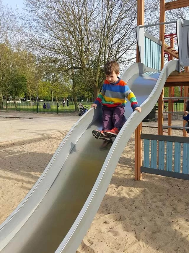 wavy slide at Eaton Park