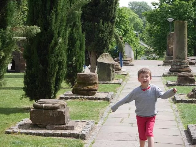 running at the Roman Gardens in Chester