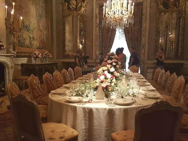 dining room at Waddesdon