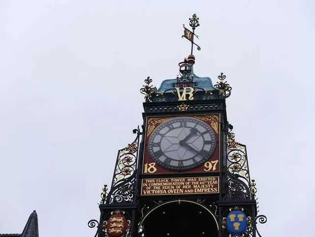town clock in chester