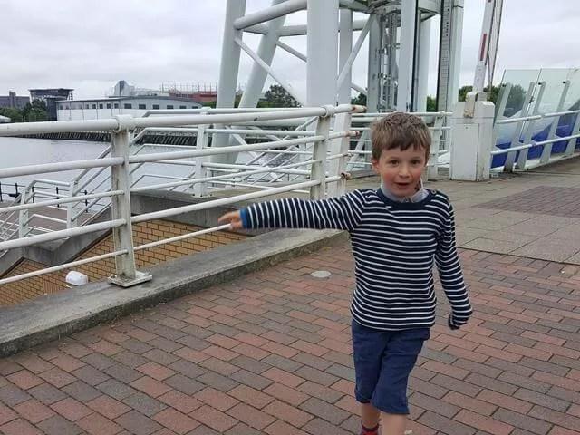 walking the bridges at media city