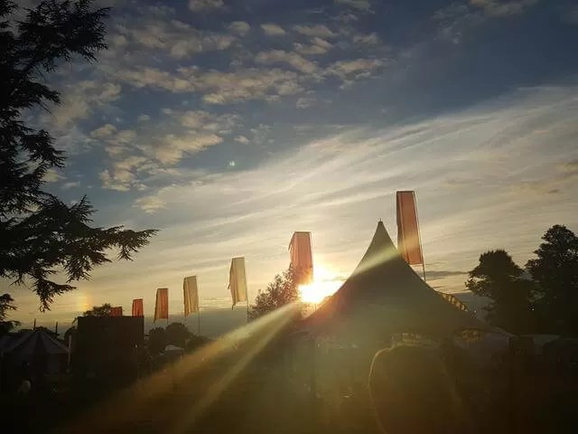 sunset over cornbury