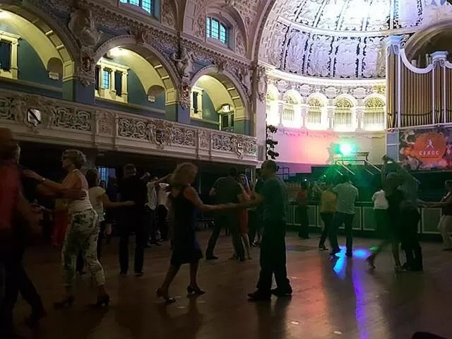dancing ceroc at Oxford town hall